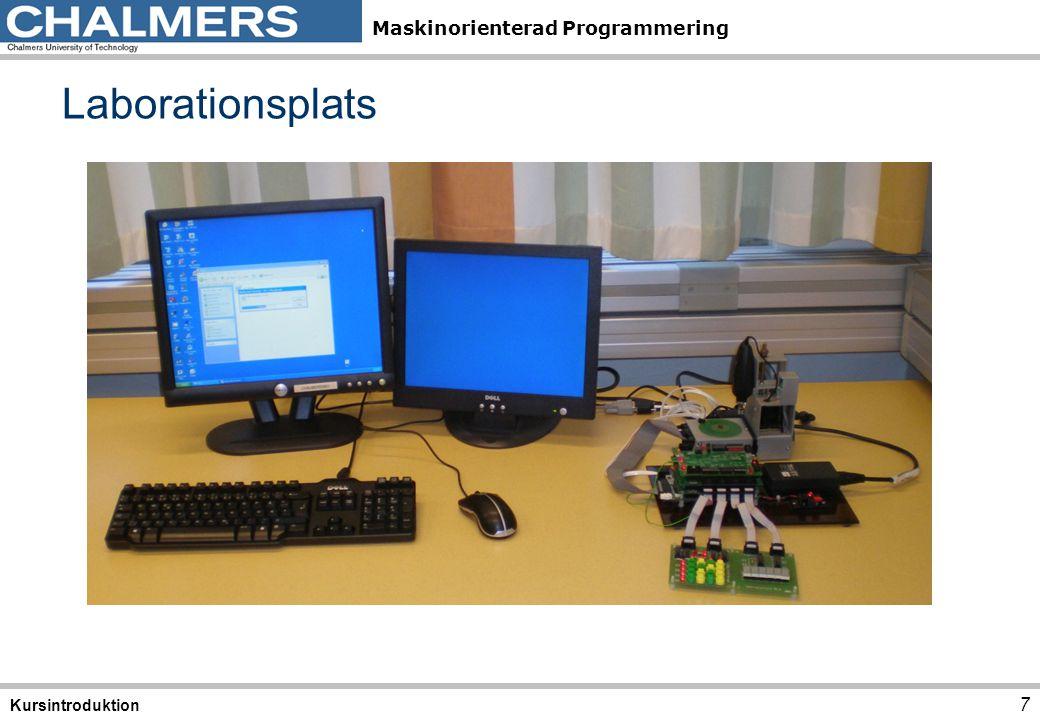 Maskinorienterad Programmering Laborationssystem 8 Kursintroduktion