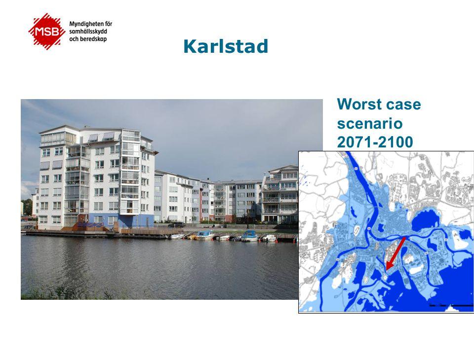 Karlstad Worst case scenario 2071-2100