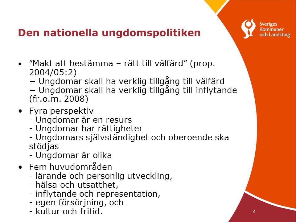 3 Förtydligande av den nationella ungdomspolitiken •Skrivelse från regeringen i okt/nov -09 •Innehåll?.