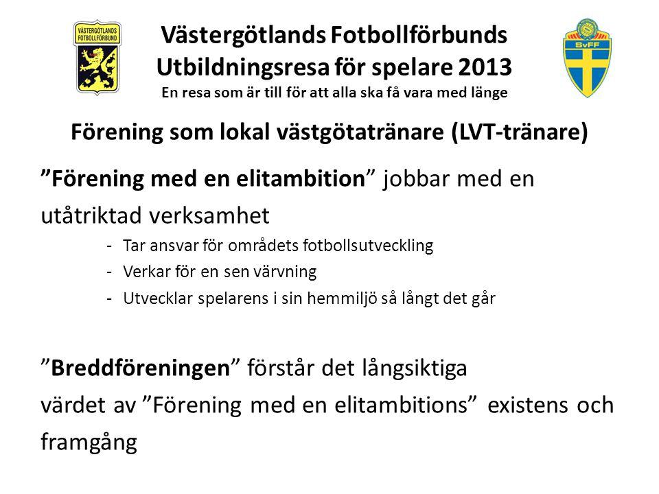 """""""Förening med en elitambition"""" jobbar med en utåtriktad verksamhet -Tar ansvar för områdets fotbollsutveckling -Verkar för en sen värvning -Utvecklar"""