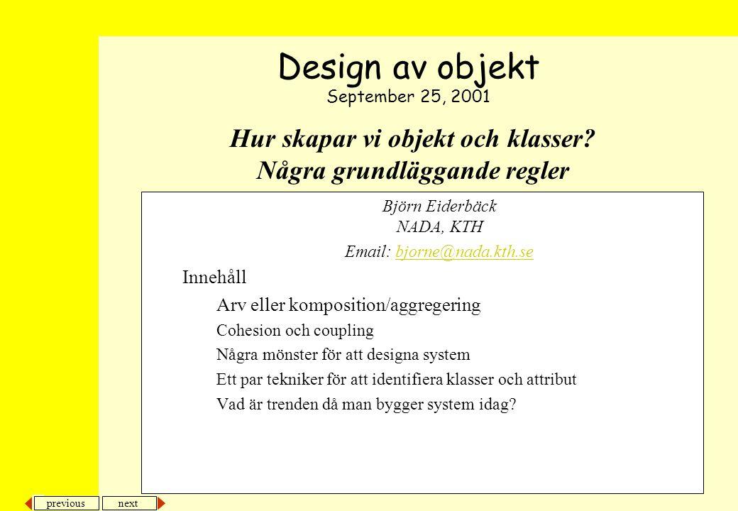 previous next 12 Objektkonstruktion OOMPA, F7...