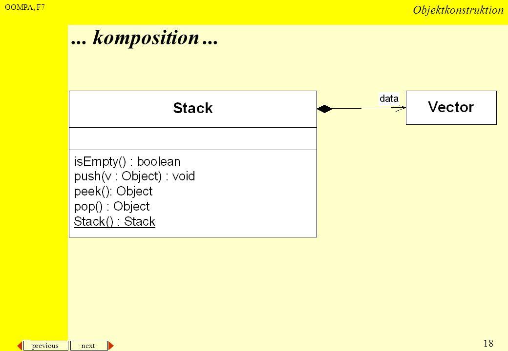 previous next 18 Objektkonstruktion OOMPA, F7... komposition...