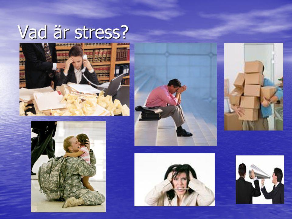 Vad är stress?