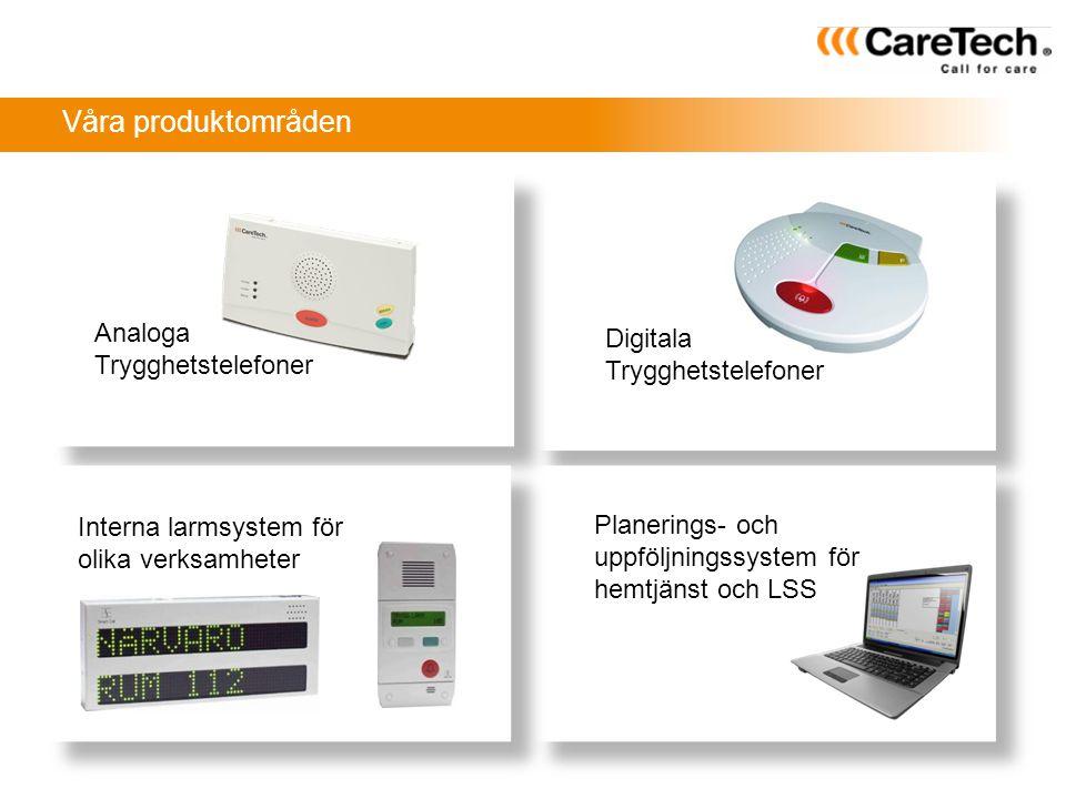 Larmcentral Trygghetstelefon Trådlösa givare Grundfunktion trygghetslarm Åtgärdspatruller