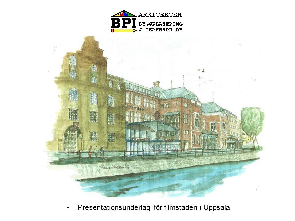 •Presentationsunderlag för filmstaden i Uppsala