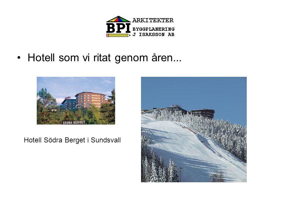•Hotell som vi ritat genom åren... Hotell Södra Berget i Sundsvall