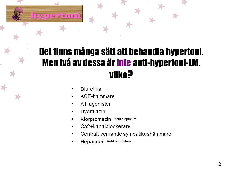 2 Det finns många sätt att behandla hypertoni.Men två av dessa är inte anti-hypertoni-LM.