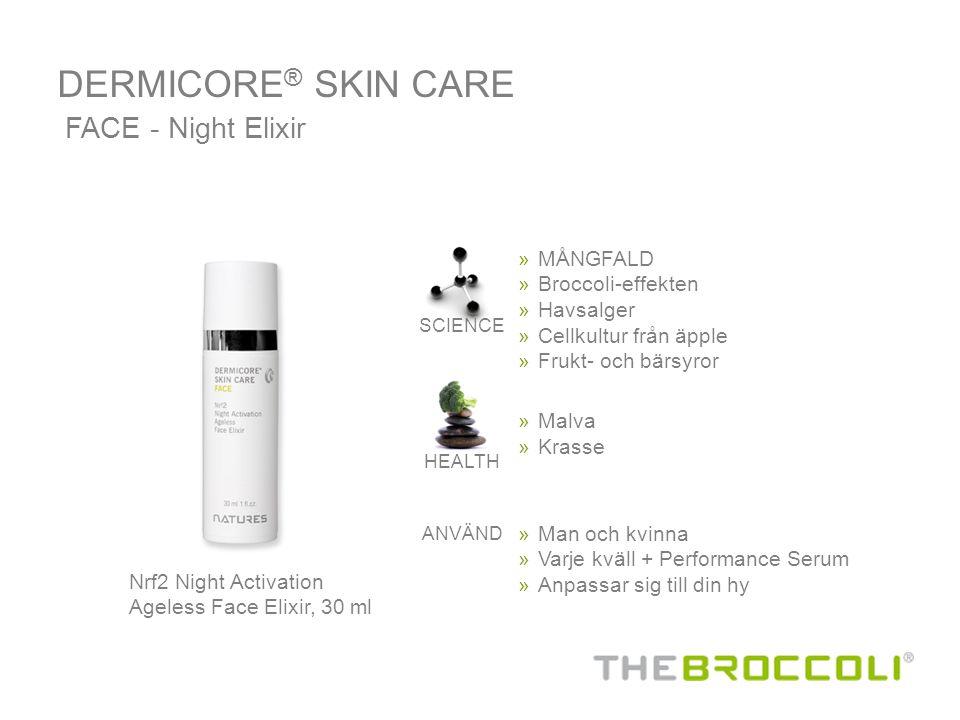 Nrf2 Night Activation Ageless Face Elixir, 30 ml FACE - Night Elixir » MÅNGFALD » Broccoli-effekten »Havsalger » Cellkultur från äpple » Frukt- och bä