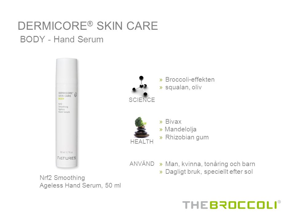 Nrf2 Smoothing Ageless Hand Serum, 50 ml BODY - Hand Serum » Broccoli-effekten »squalan, oliv SCIENCE HEALTH » Man, kvinna, tonåring och barn » Daglig
