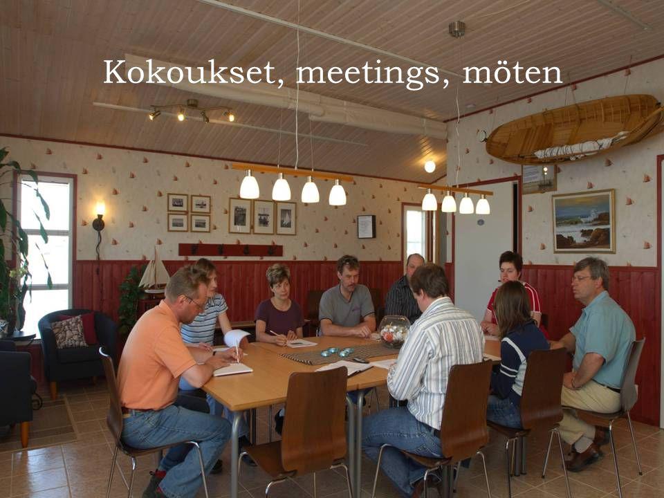 Kokoukset, meetings, möten
