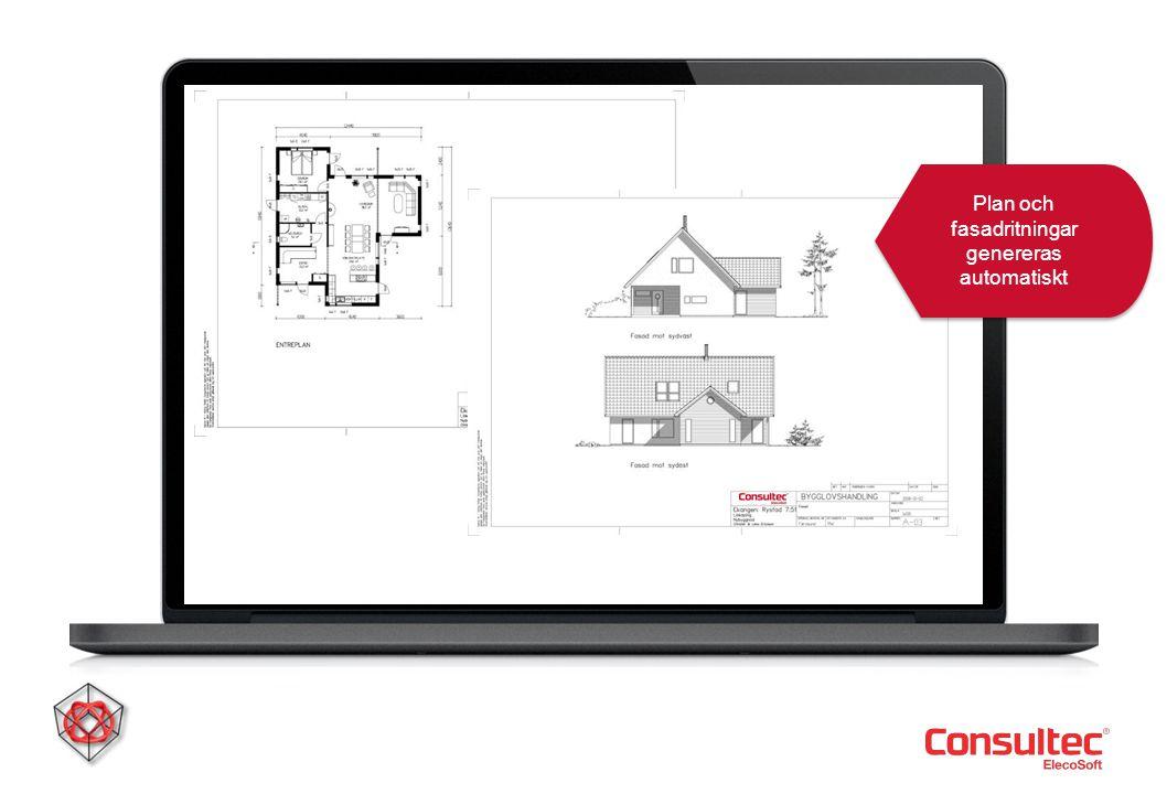 Plan och fasadritningar genereras automatiskt