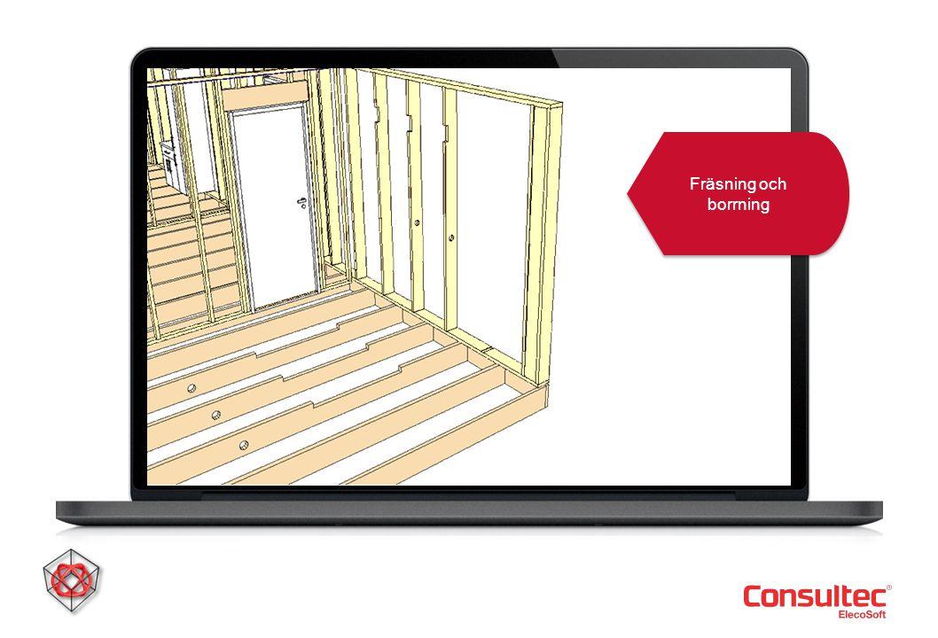 DDS-CAD Konstruktion Fräsning och borrning