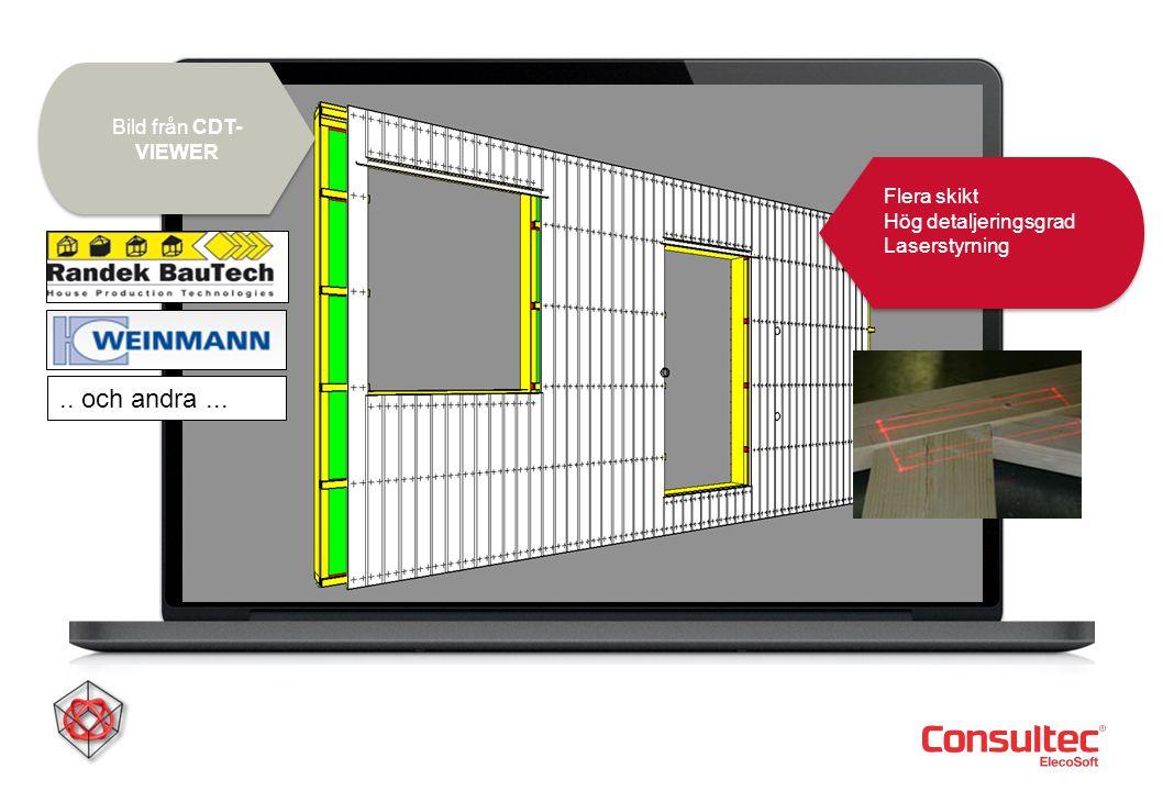 Bild från CDT- VIEWER Flera skikt Hög detaljeringsgrad Laserstyrning Flera skikt Hög detaljeringsgrad Laserstyrning Bild från CDT- VIEWER.. och andra.