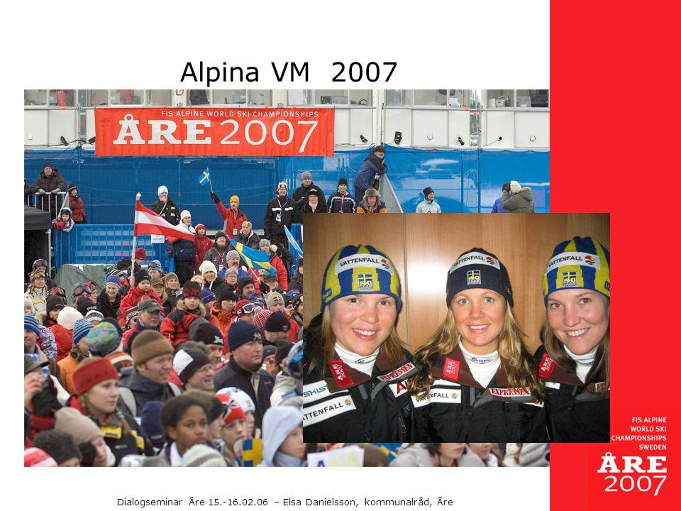 Dialogseminar Åre 15.-16.02.06 – Elsa Danielsson, kommunalråd, Åre Alpina VM 2007
