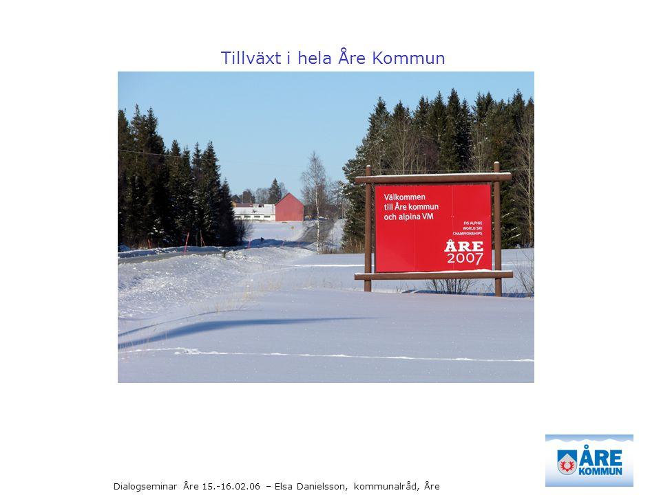 Dialogseminar Åre 15.-16.02.06 – Elsa Danielsson, kommunalråd, Åre + 26 mkr i skatteintäkter + 7 mkr uppnått idag