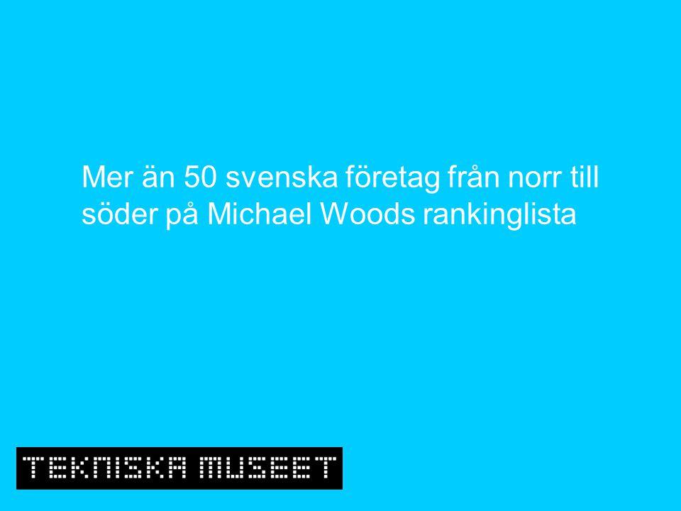 Mer än 50 svenska företag från norr till söder på Michael Woods rankinglista