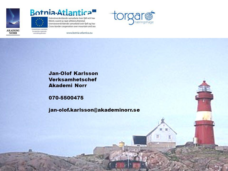 Jan-Olof Karlsson Verksamhetschef Akademi Norr 070-5500475 jan-olof.karlsson@akademinorr.se