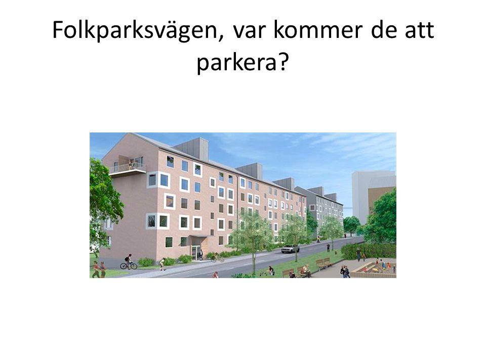 Folkparksvägen, var kommer de att parkera?