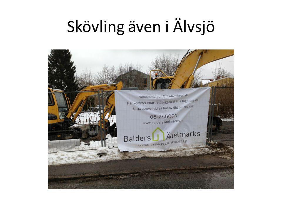 Skövling även i Älvsjö