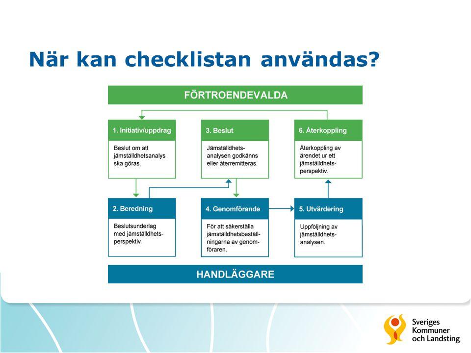 När kan checklistan användas?