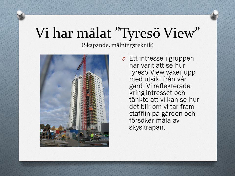 """Vi har målat """"Tyresö View"""" (Skapande, målningsteknik) O Ett intresse i gruppen har varit att se hur Tyresö View växer upp med utsikt från vår gård. Vi"""