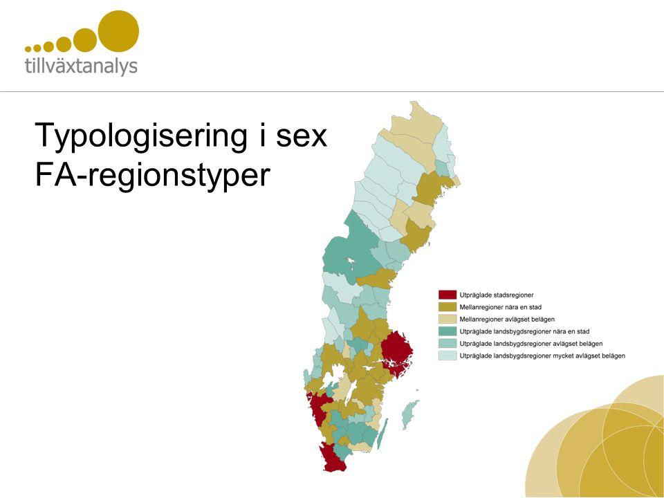 Typologisering i sex FA-regionstyper