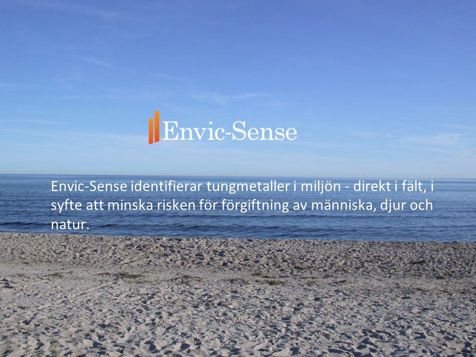 Envic-Sense identifierar tungmetaller i miljön - direkt i fält, i syfte att minska risken för förgiftning av människa, djur och natur.