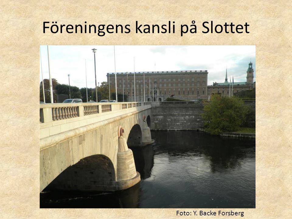 Föreningens kansli på Slottet Foto: Y. Backe Forsberg