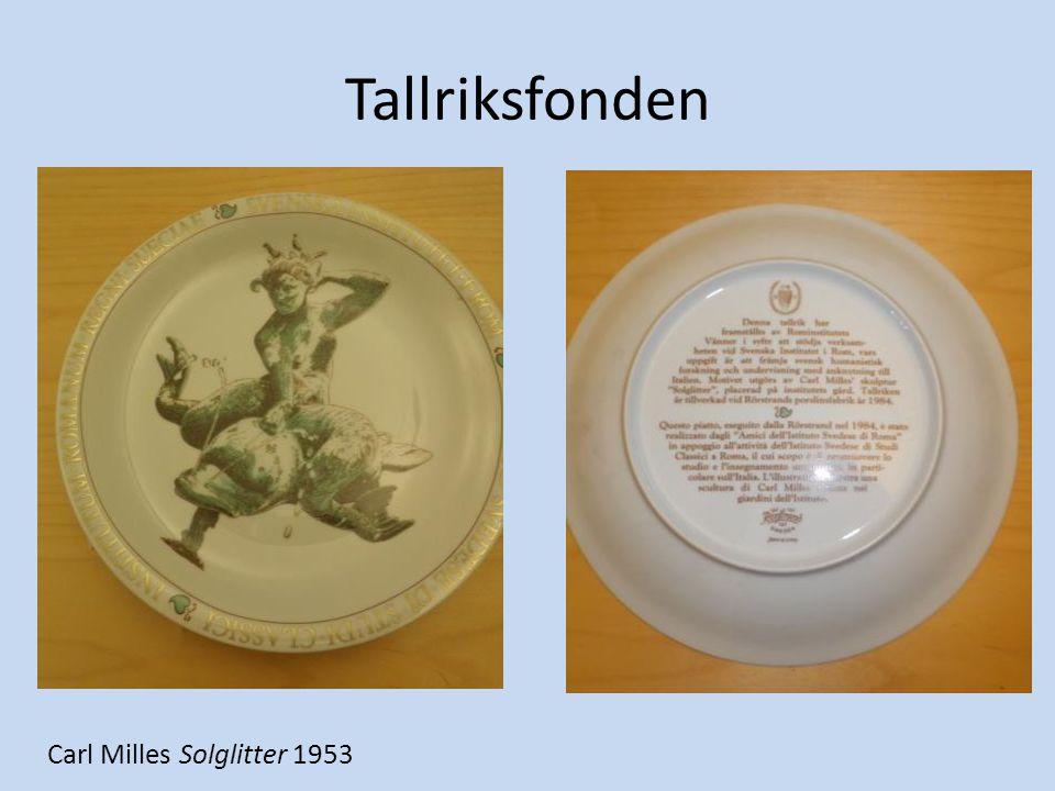 Tallriksfonden Carl Milles Solglitter 1953