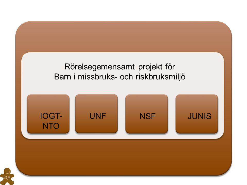 Rörelsegemensamt projekt för Barn i missbruks- och riskbruksmiljö UNFIOGT- NTO NSFJUNIS