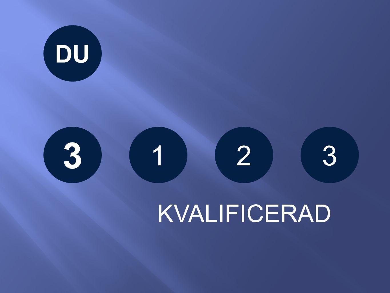 123 KVALIFICERAD DU 3