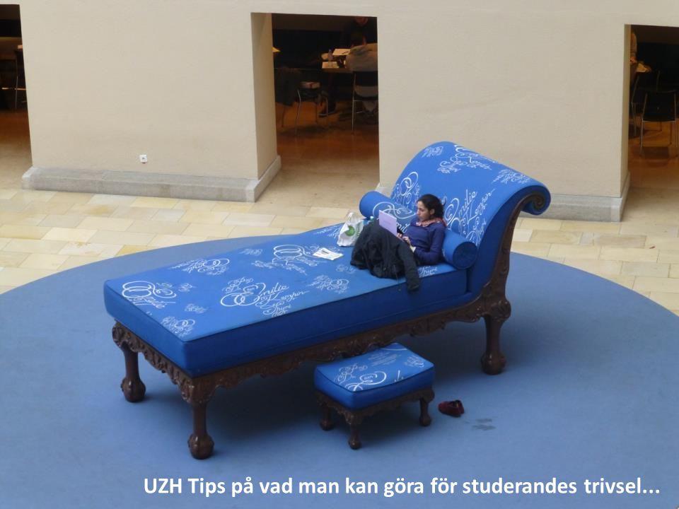 UZH Tips på vad man kan göra för studerandes trivsel...