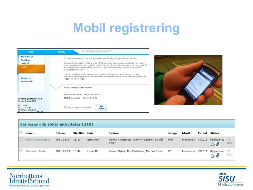 Mobil registrering
