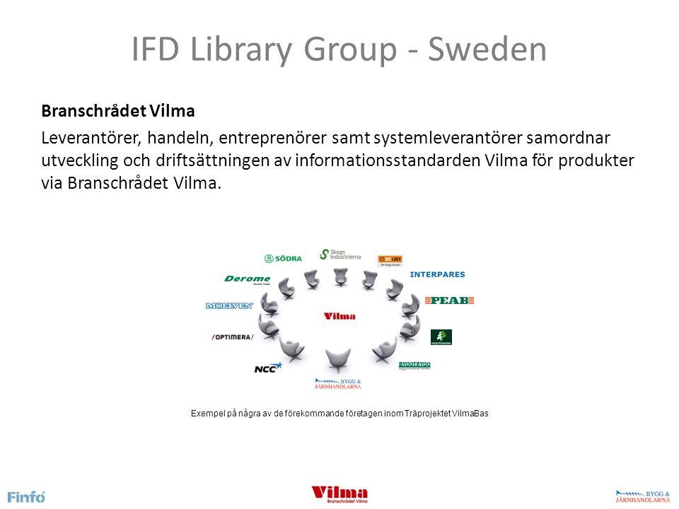 IFD Library Group - Sweden Sveriges Bygg & Järnhandlareförbund Arbetet med Vilma har pågått sedan 2003 och administreras av Sveriges Bygg & Järnhandlareförbund.