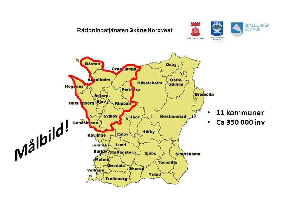 HELSINGBORGS BRANDFÖRSVAR Räddningstjänsten Skåne Nordväst • 11 kommuner • Ca 350 000 inv