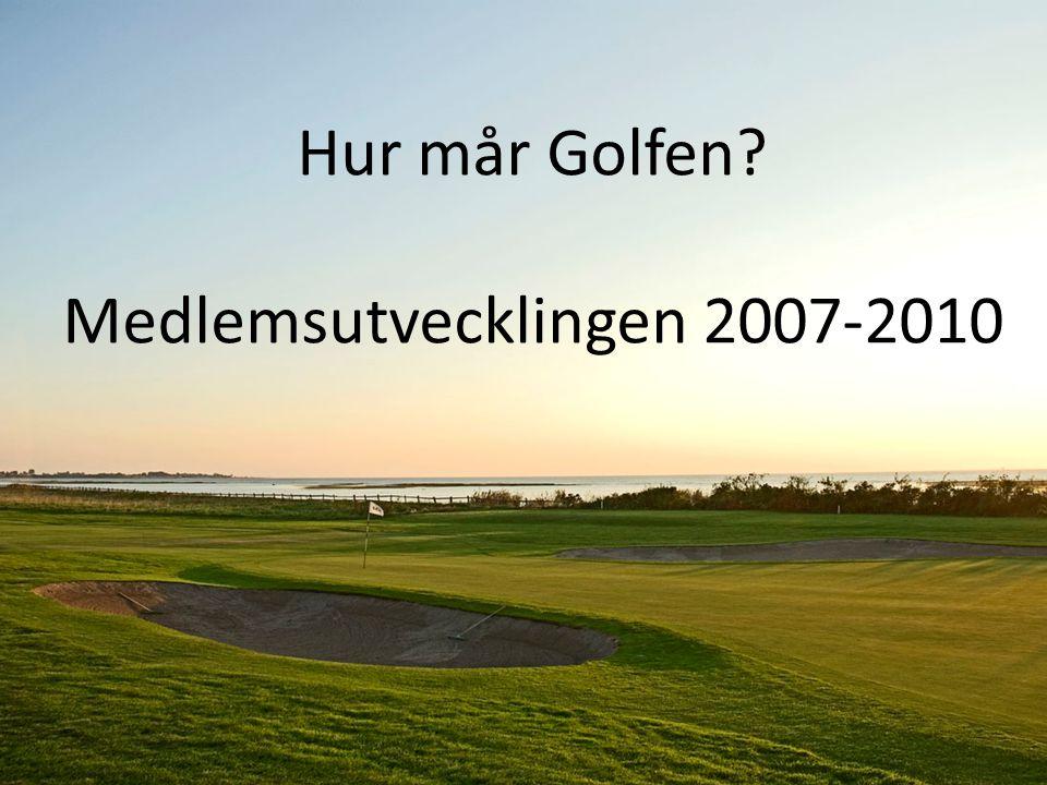 Hur mår Golfen? Hur mår Golfen? Medlemsutvecklingen 2007-2010
