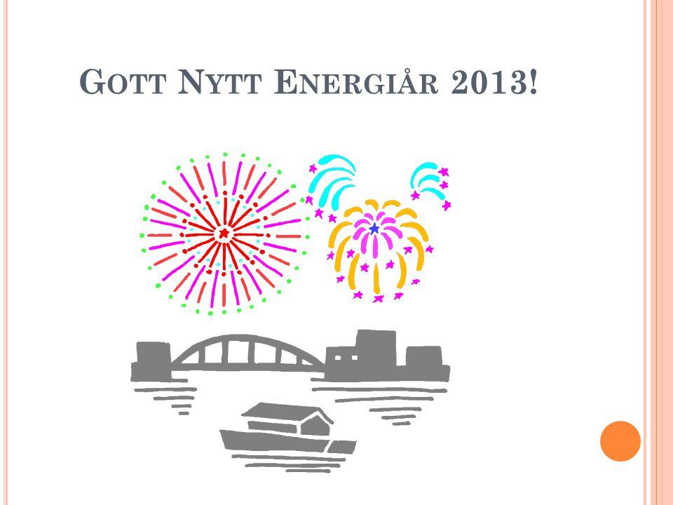 G OTT N YTT E NERGIÅR 2013!
