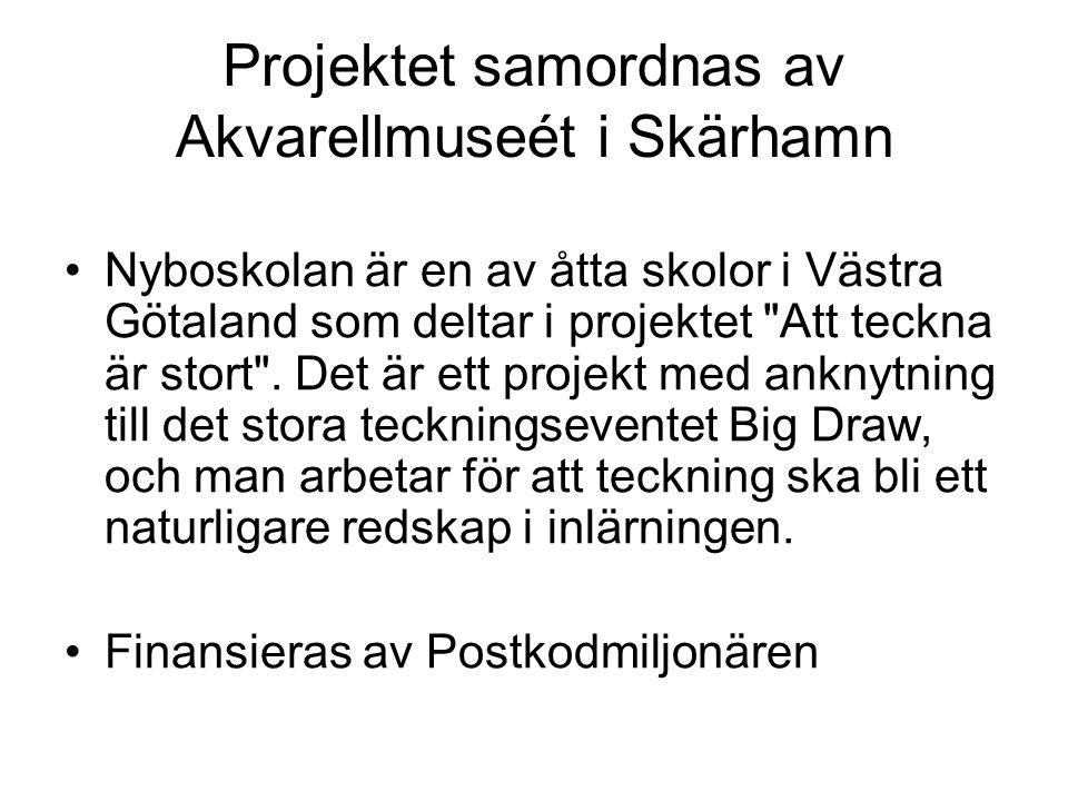 Projektet samordnas av Akvarellmuseét i Skärhamn •Nyboskolan är en av åtta skolor i Västra Götaland som deltar i projektet