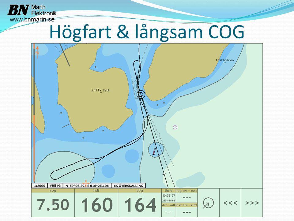 Högfart & långsam COG www.bnmarin.se