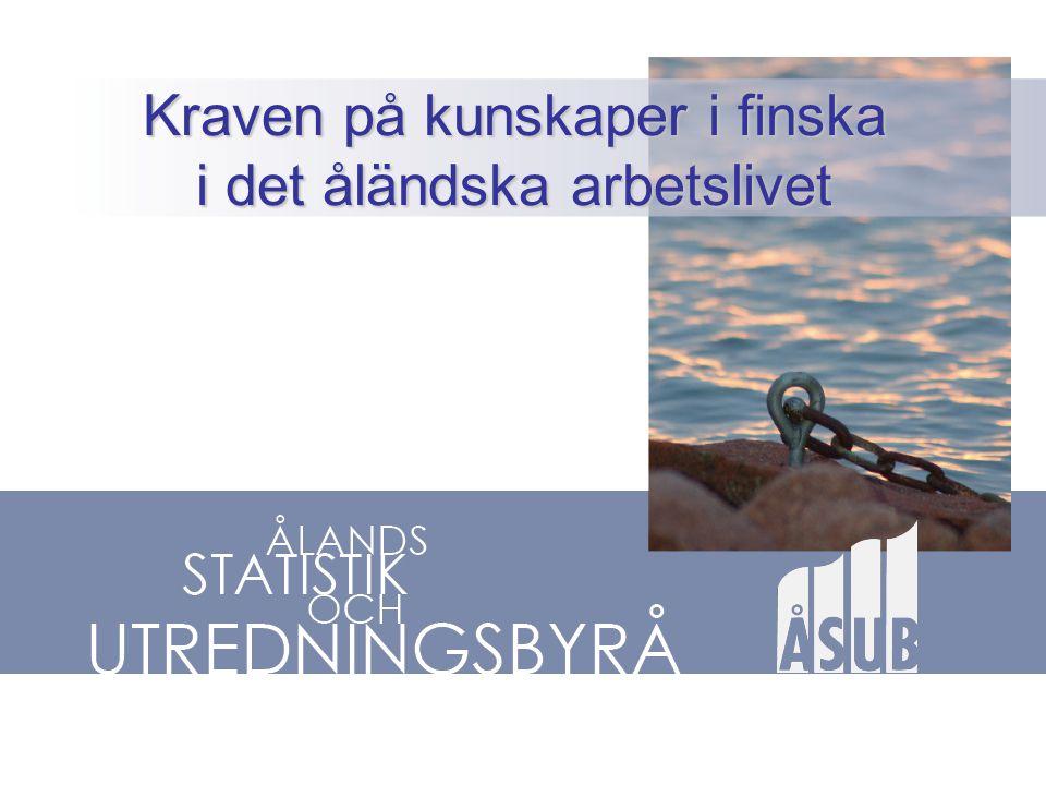 •Finska språket inte vilket språk som helst på Åland – Politiskt känsligt - Koppling till självstyrelsens ursprung och kärna •Ständigt återkommande debatt – allt står inte rätt till.