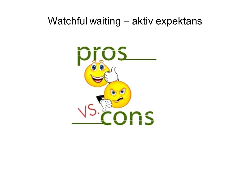 Watchful waiting – aktiv expektans
