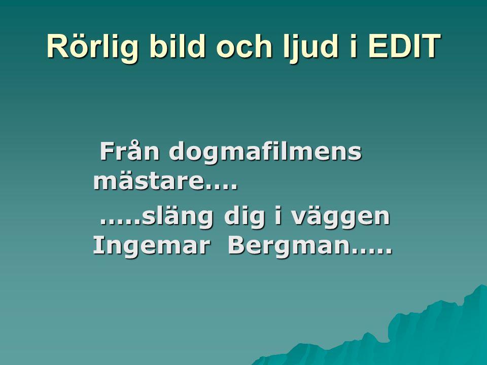 Från dogmafilmens mästare…. Från dogmafilmens mästare….