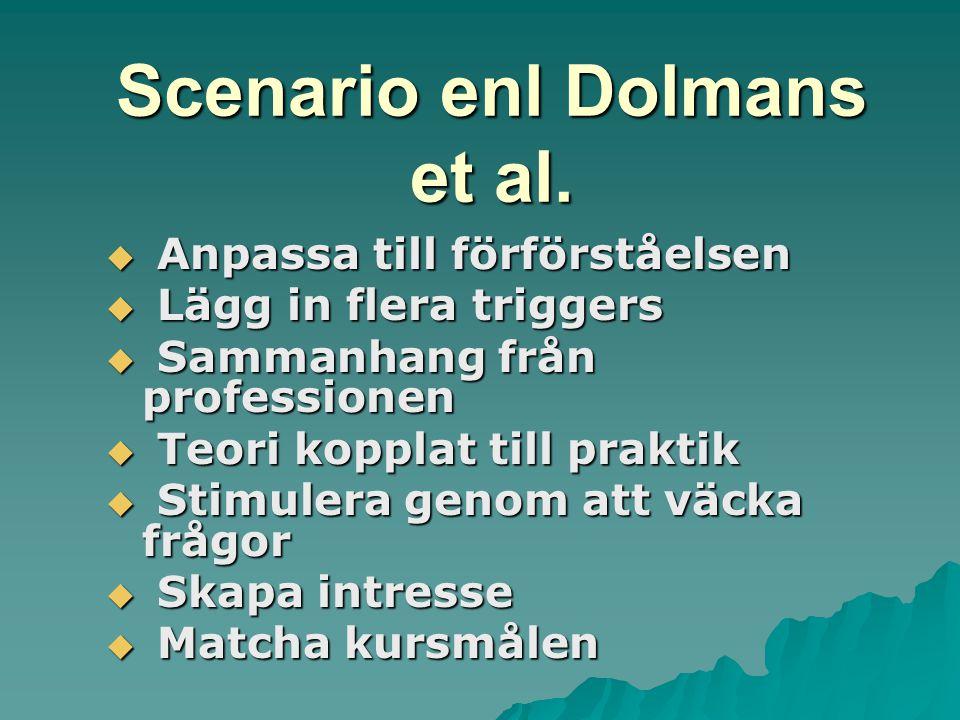 Scenario enl Dolmans et al.