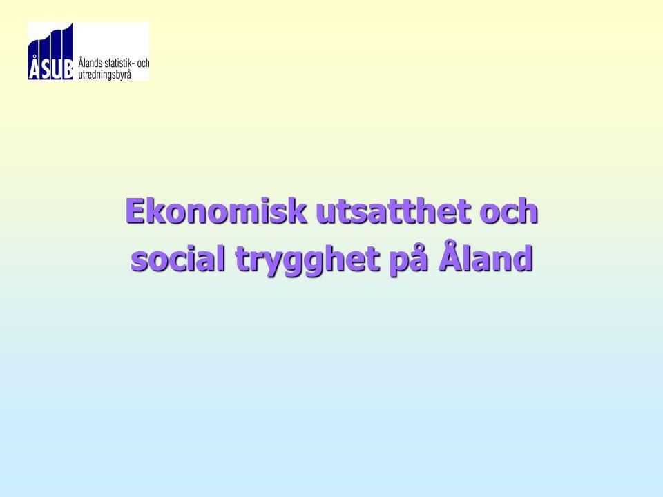 ÅSUB 2007 Ekonomisk utsatthet och social trygghet på Åland