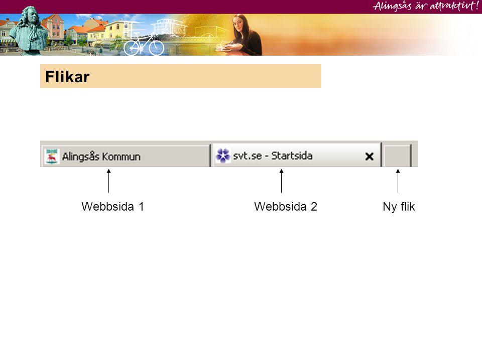 Webbsida 1Webbsida 2Ny flik