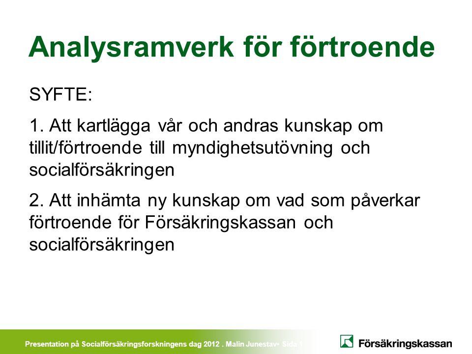 Presentation på Socialförsäkringsforskningens dag 2012.