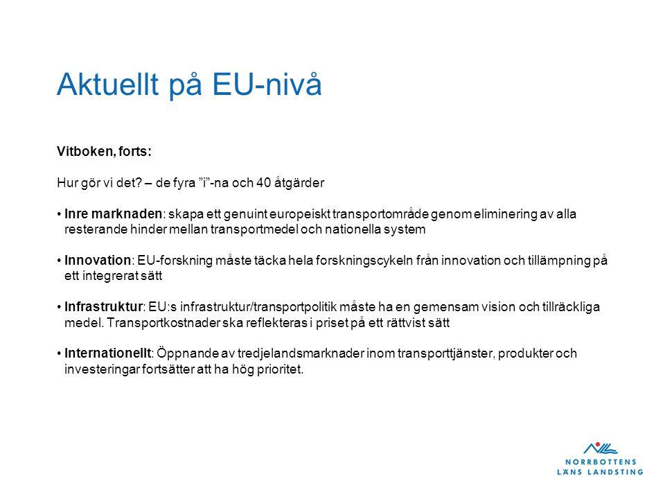 Aktuellt på EU-nivå Vitboken, forts: Hur gör vi det.