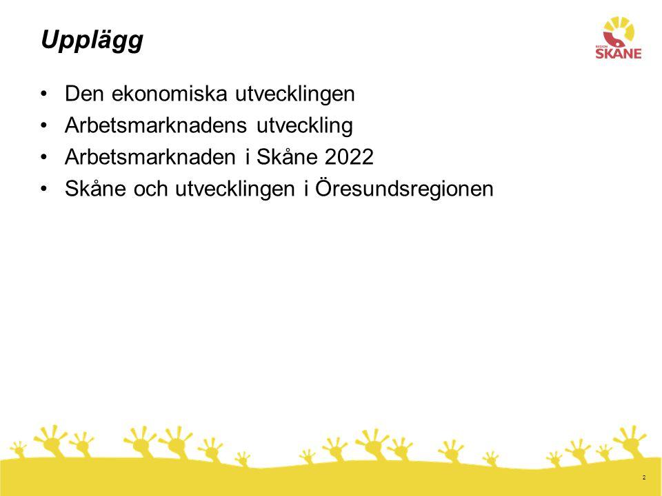 13 Öresundspendlare med arbete i Region Hovedstaden efter bransch. År 2011