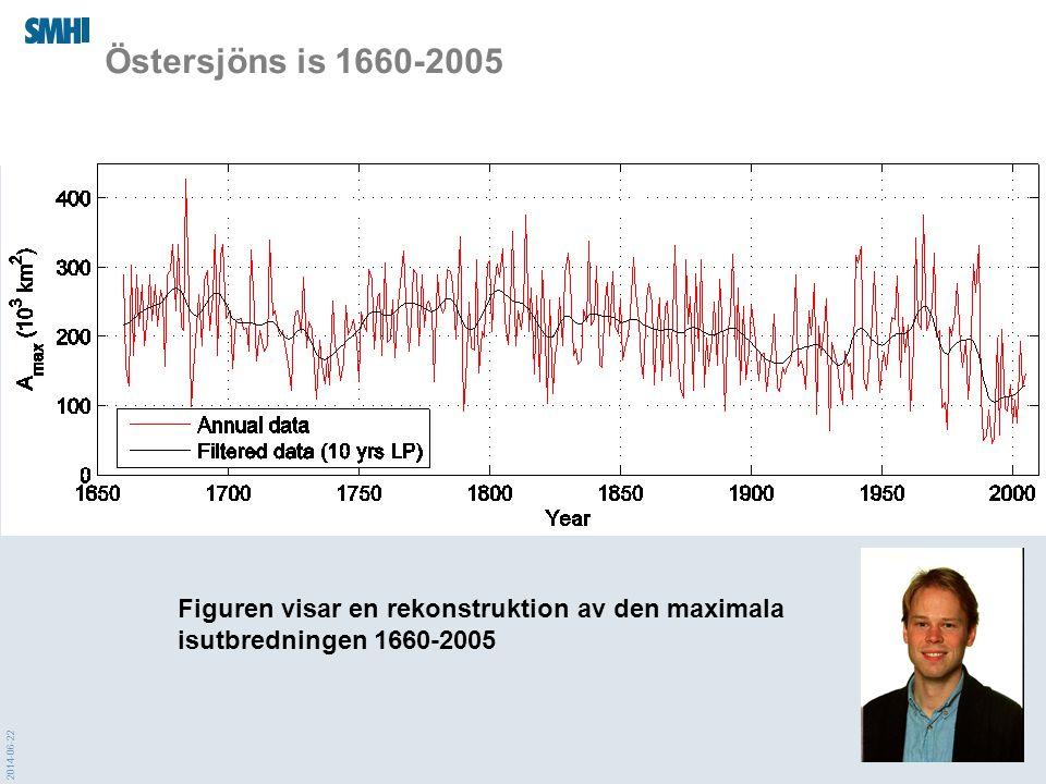 2014-06-22 Östersjöns is 1660-2005 Figuren visar en rekonstruktion av den maximala isutbredningen 1660-2005
