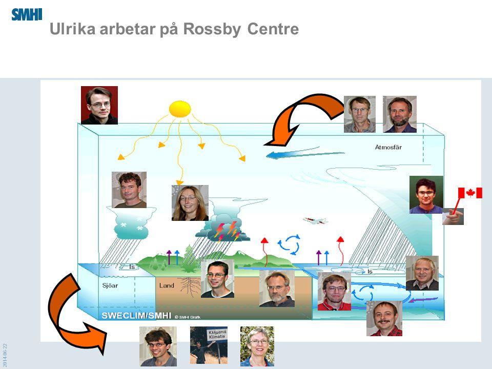 2014-06-22 Ulrika arbetar på Rossby Centre